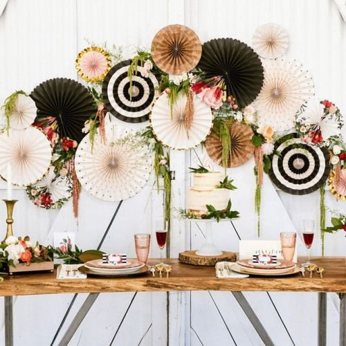 Botanical Pinwheel Decorations