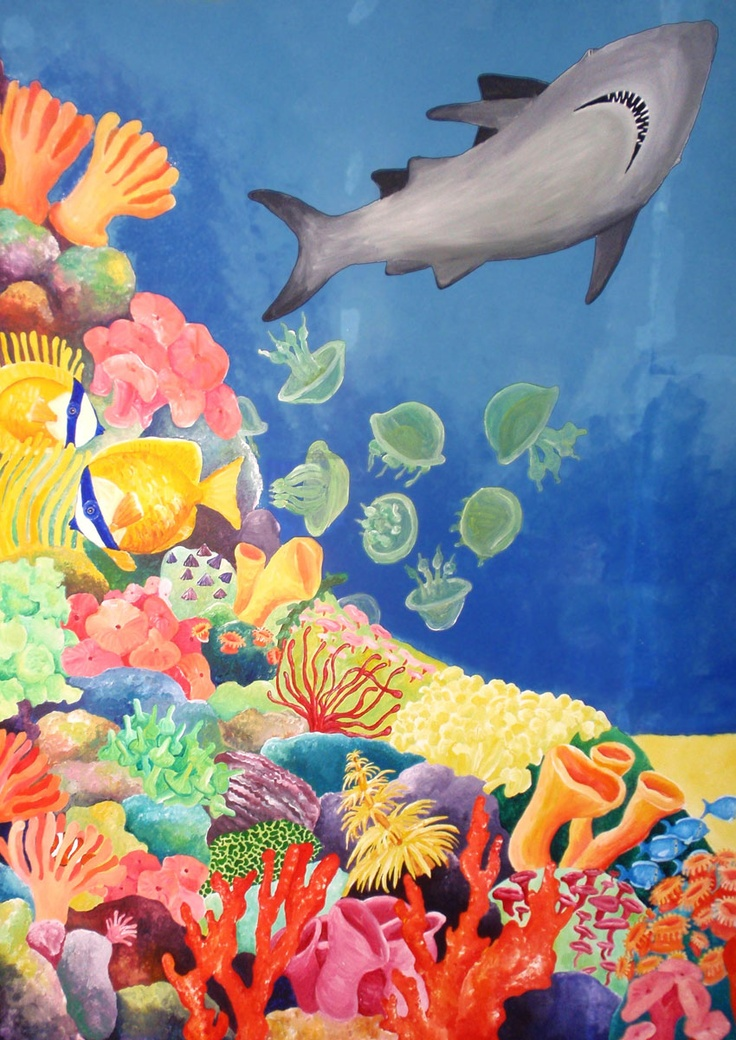Best 25 aquarium mural ideas on pinterest plongeur for Aquarium mural