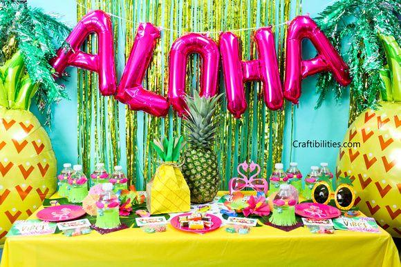 Tropical Luau Party Ideas Decorations Favors Treats Photo