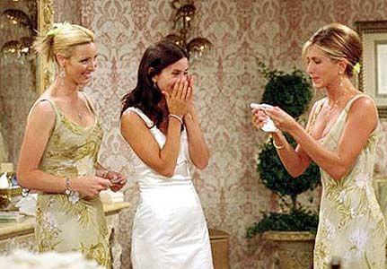 Monica's bridesmaid dresses are perfection!