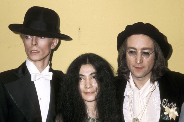 Fame: Bowie with John Lennon and Yoko Ono