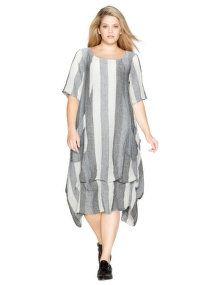 D Celli Robe bouffante avec jupe fronçable in gris / blanc