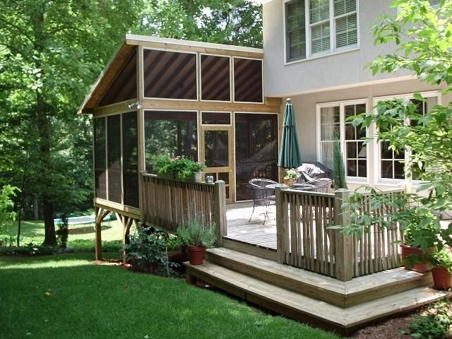 superb detached screen porch #5: Decoration, Screened Porch With Deck Ideas: Create a Beautiful and Relaxing  Porches and Decks
