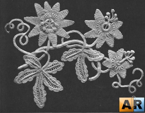 Irish Crochet Flower Decor