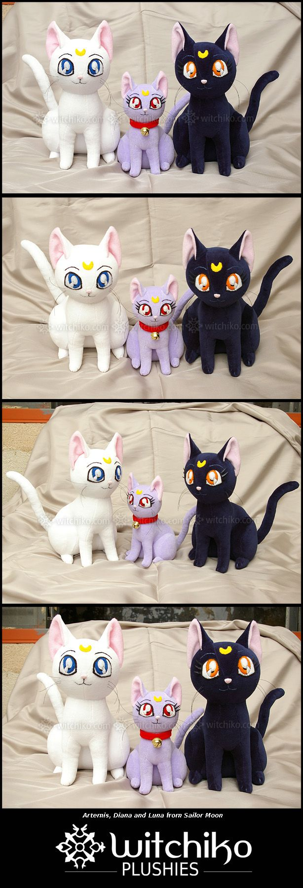 Artemis:::Diana:::Luna from Sailor Moon by Witchiko.deviantart.com on @deviantART