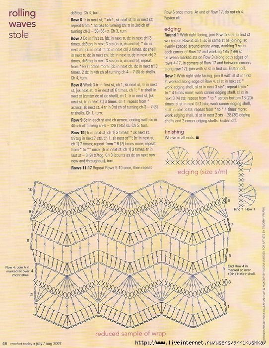 Maravilhas do Crochê: Xales e Shawl em Crochê 2