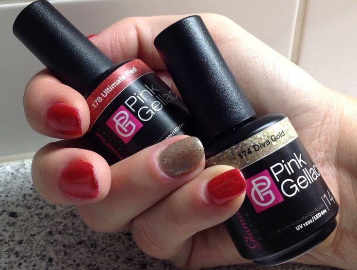 Pink Gellac 178 Ultimate Red / Pink Gellac 174 Diva Gold