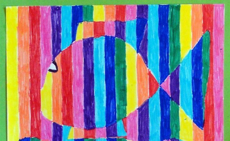 Door Sam, groep 5 Benodigdheden: tekenpapier op A5 formaat liniaal potlood viltstiften De leerlingen leggen het vel in de breedte neer en tr...