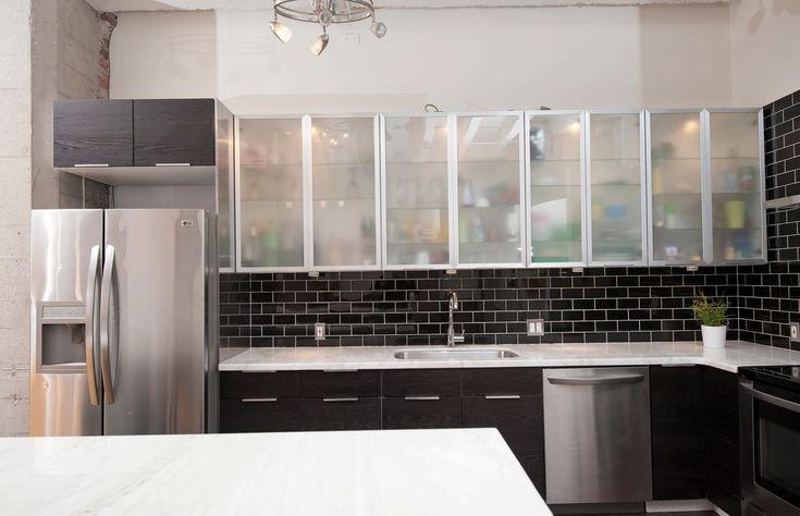 black subway tile backsplash kitchen pinterest