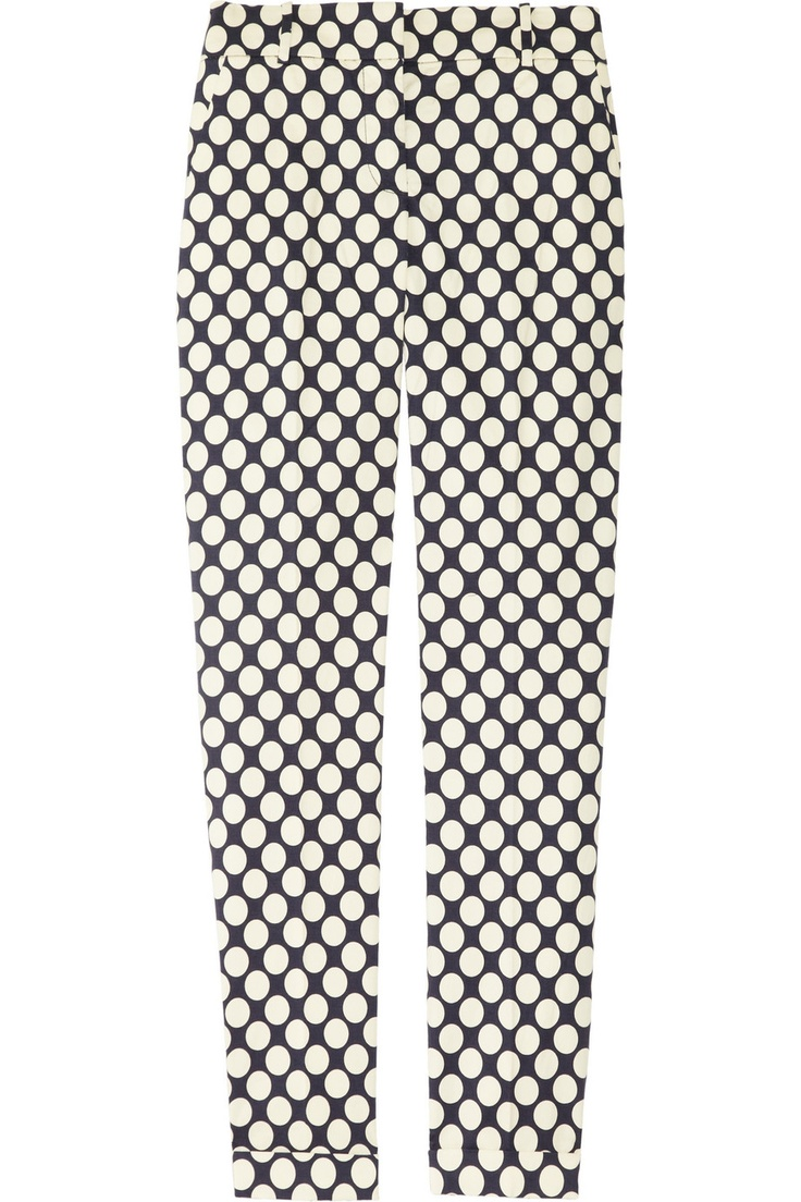 J.Crew dots: Capri Pants, Dot Pant, Polka Dots, Café Polka Dot, Café Polkadot, Stretch Cotton Capri, J Crew Café, Polka Dot Stretch Cotton, Pants 120