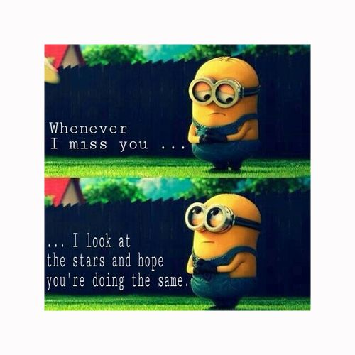 I Miss You Quotes Cute: Minions I Miss You Quotes. QuotesGram