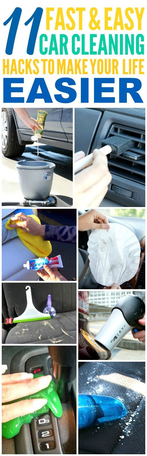 These 11 Time Saving Car Hacks are THE BEST! I'm so glad I found these GREAT tips! now I have some great ways to keep my car clean and organized! Definitely pinning!