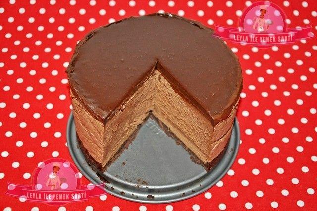 Schokoladen-Mousse Torte – Çikolatalı Mus Pasta tarifi | LEYLA İLE YEMEK SAATİ