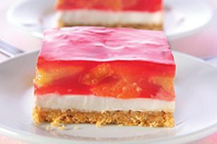 This fruity, no-bake layered dessert is great for family get-togethers.  Fresh strawberries and JELL-O pair up in this cool and creamy dessert.
