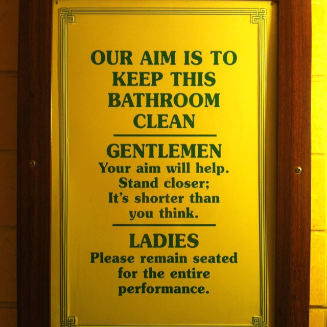 17 best images about bathroom ideas for the babylon on - Clean up after yourself bathroom signs ...