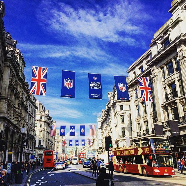 @alexbrowne83 Regent Street in Autumn sunshine #london #uk #unitedkingdom #nfl #autumn #sun #sunshine #october #regentstreet