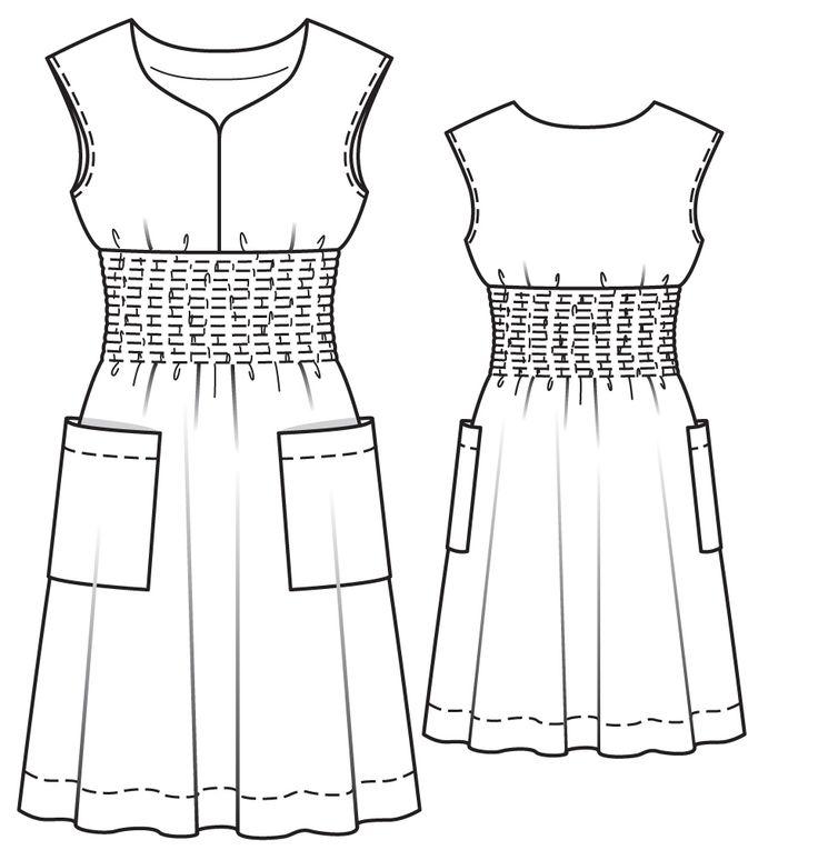 Платье - выкройка № 133 из журнала 5/2014 Burda – выкройки платьев на Burdastyle.ru
