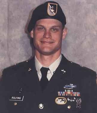 Army Staff Sgt. Robb L. Rolfing  Died June 30, 2007 Serving During Operation Iraqi Freedom  29, of Milton, Mass.; assigned to the 2nd Battalion, 10th Special Forces Group (Airborne), Fort Carson, Colo.; died June 30 in Baghdad of wounds sustained from enemy small-arms fire.