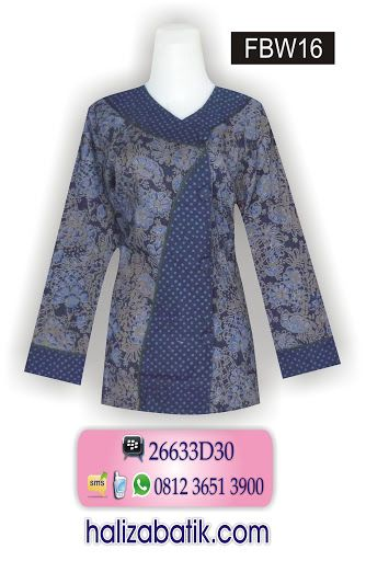 Butik Batik Online, Model Baju Terkini, Baju Batik Wanita, FBW16