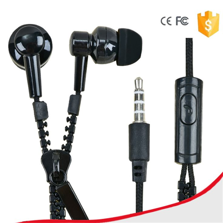 Find More Earphones & Headphones Information about New 3.5mm In Ear Metal Bass Zipper Earphones Sports Music Wired Earbud Headset With Microphone For iphone Samsung,High Quality headphones logitech,China headset iphone Suppliers, Cheap headset microphone wireless systems from Baoshun Zhi on Aliexpress.com