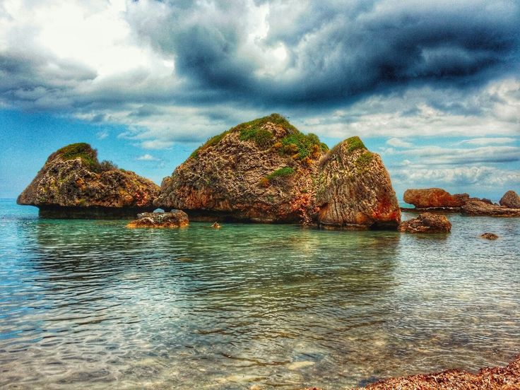 Rock Formations In The Sea At Porto Azzoro On Zakynthos island Greece Photography by Alistair Ford