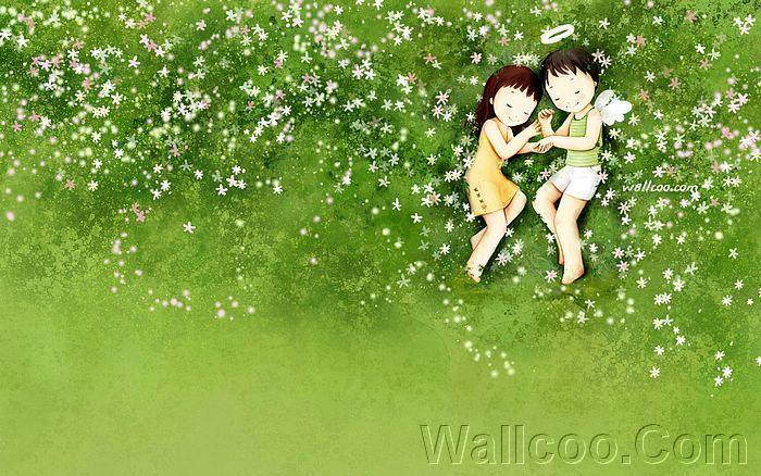 Kim Jong Bok Illustrations(Vol.04) : Sweet Puppy Love   - Sweet Puppy Love - Lovely Cartoon Couple Illustrations  14