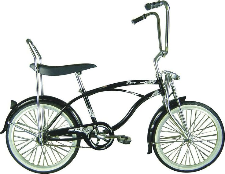 Micargi Hero boys' lowrider bike features a banana seat, mini springer  front-end fork and ape-hanger handlebar. This black, Micargi Hero boys'  retro ...