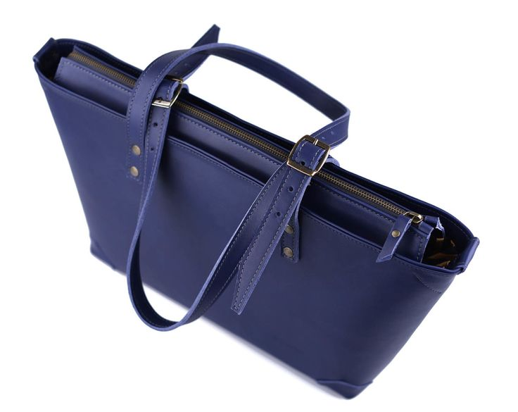 Pickpocket Bags - Blue Apside Bag by Pickpocket - Leather Bag - Genuine Blue Leather