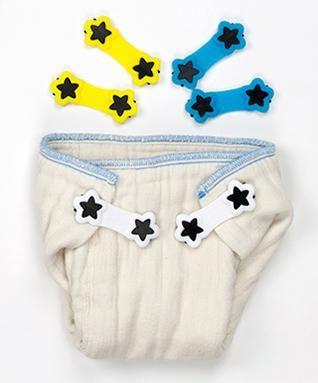 White /& Green 2 Pack Boingo Baby Cloth Diaper Fastener