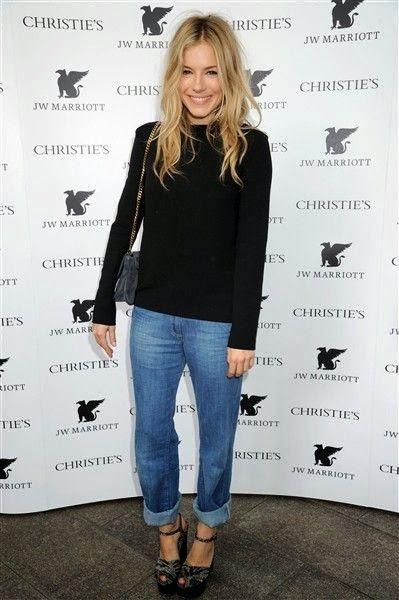 Boyfriend Jeans: Sienna Miller Style! HAIR OBSESSION