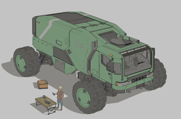 ArtStation - Expedition truck, Timo Kujansuu
