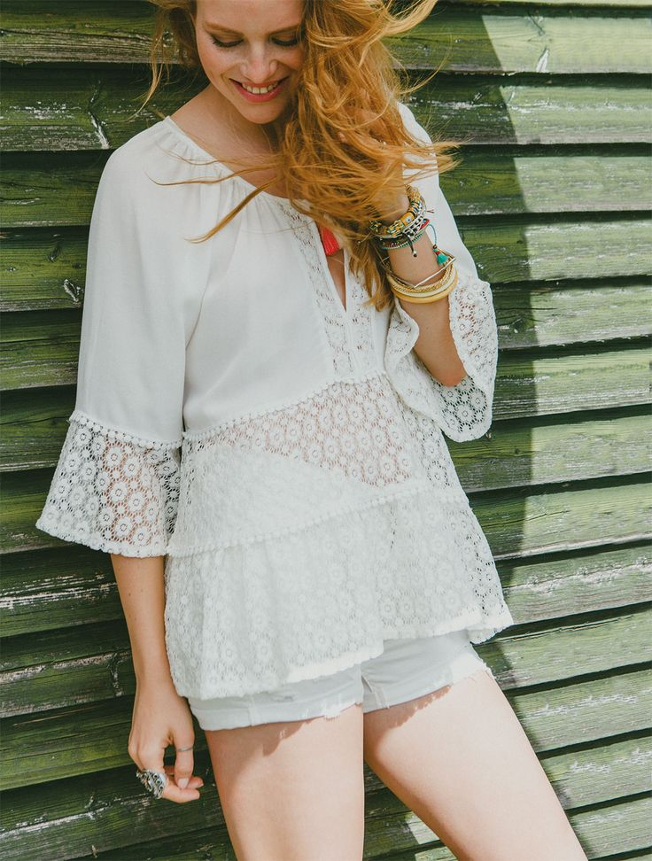 Work the lace trend any time of the day!