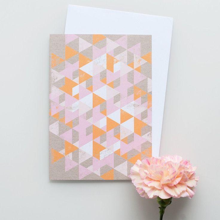 "Kort&Gott Greeting Card   Envelope ""Triangles"""