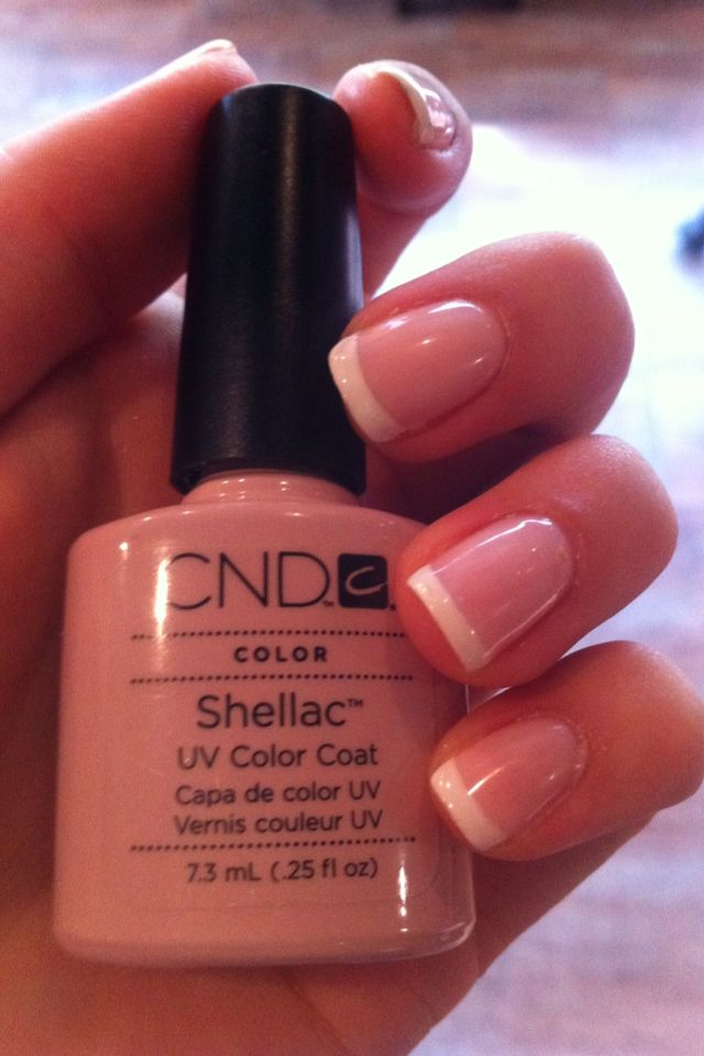 Shellac French Manicure I did using creampuff and beau- love this product