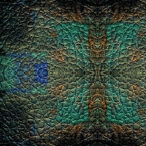 """Peacock """"leather"""" fabric by jmsiame. Order on linen, cotton, canvas, silk, upholstery fabric etc."""