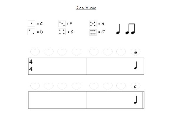 Centers: Dice Music | Elementary Music Resources