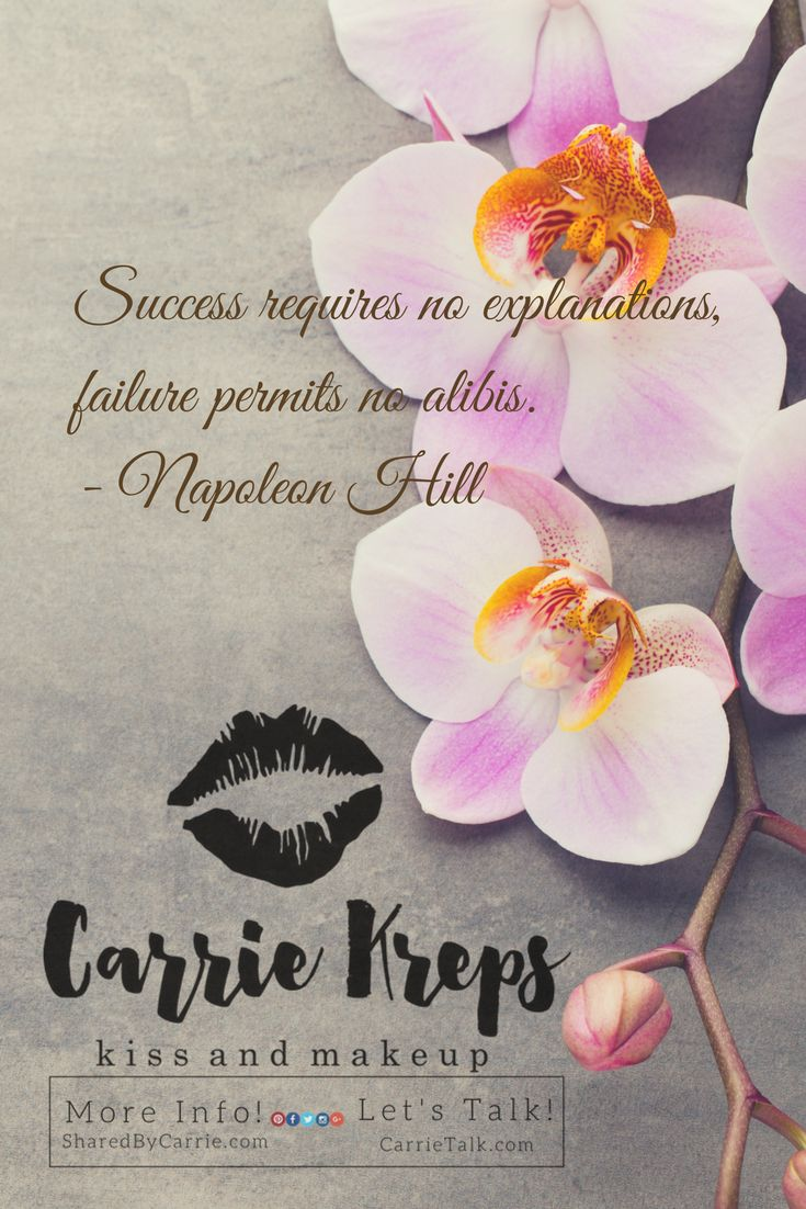 Success requires no explanations, failure permits no alibis. #Lipstick #that #stays #on is amazing! Lipstick that has great ingredients- even better! #LipSense is not only 18 hours of flawless coverage; it doesn't contain any lead or wax! Get your set from me, #CarrieKreps today or explore the links below for more information. #KissnMakeup   VISIT MY WEBSITE HERE: