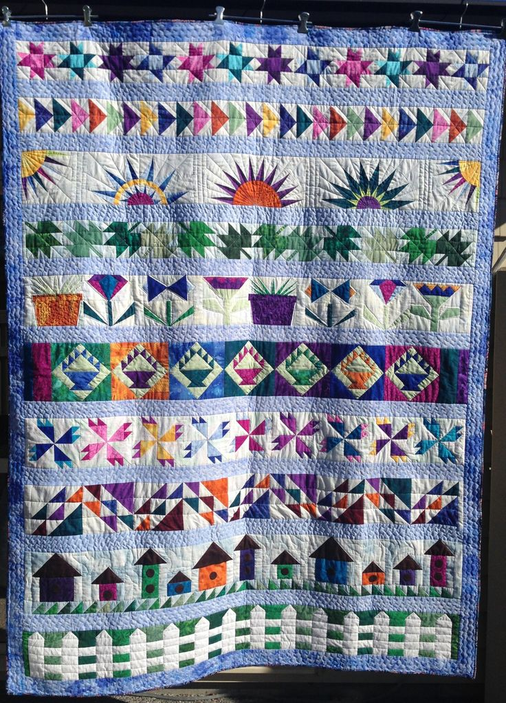 Row by Row, block of the month, designed by Winnie Fleming.