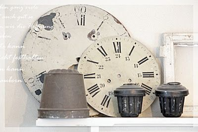 metal molds and clock faces