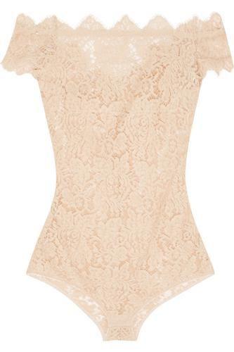 oh wow ! classy !La Belle Chantilly lace bodysuit #covetme #i.d.sarrieri