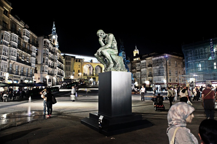 The Thinker by Rodin in Vitoria-Gasteiz (Araba)