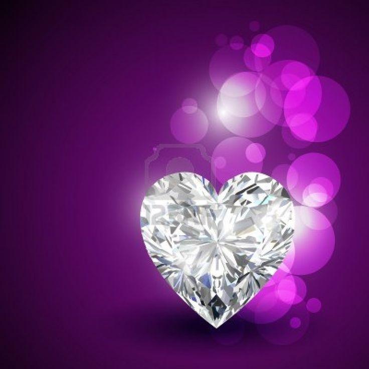 diamante hermoso en forma de ♥