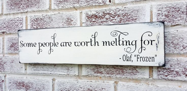 Christmas Decoration, Frozen movie quote, Olaf quote, romantic christmas decor, shabby vintage chic decorations, little girl's room, pink by deSignsOfExpression on Etsy
