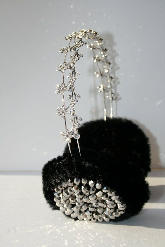 Hand-made in London embellished earmuffs made with the softest faux fur and the best of bling.