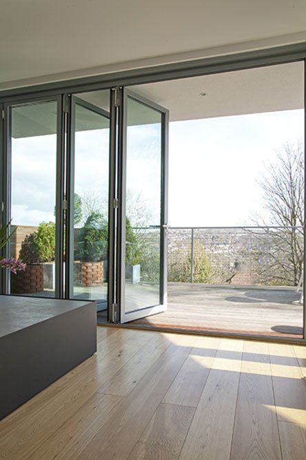 Large Bi Folding Doors by I Q Glass