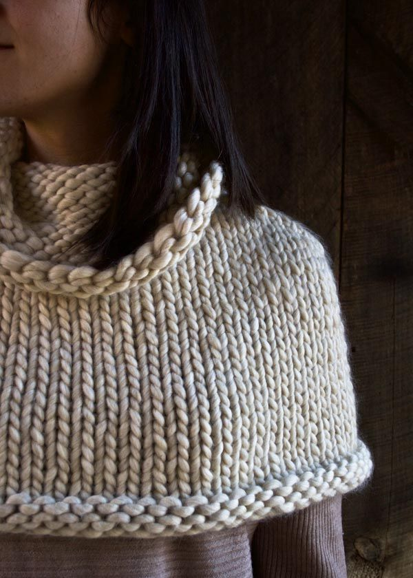 Mountain Capelet/ knitting pattern for needles wish/need for loom knitting!!