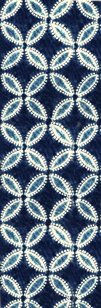 shippo tsunagi shiboripattern | indigo dye - aizome on cotton ~ shibori studio gallery ... much more at pinner's board www.pinterest.com/lalele/shibori/