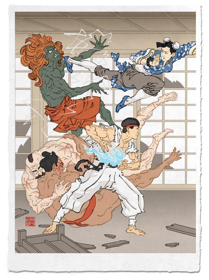 Ukiyoe Heroes - street fighter