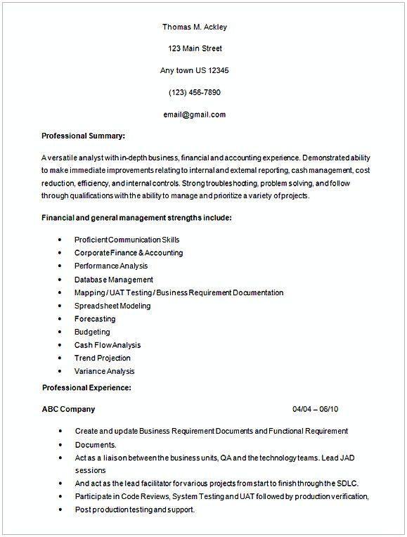 Healthcare Business Analyst Resume Sample 1 Entry Level Business Analyst Resume Are You A Fresh Business Analyst Resume Business Analyst Entry Level Resume