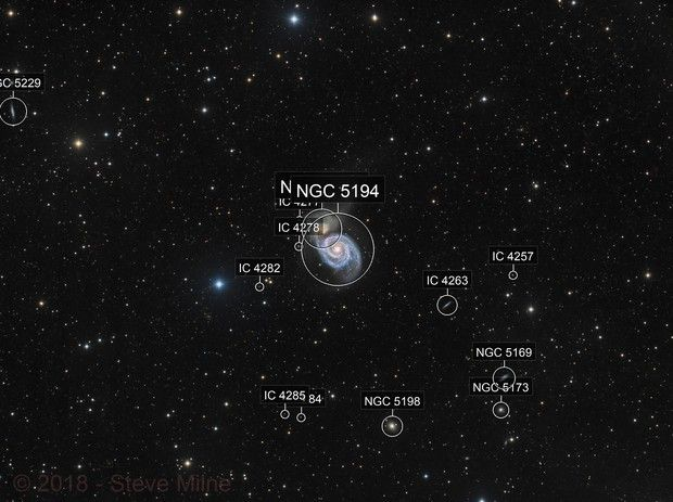 Messier 51 (Whirlpool Galaxy) in Canes Venatici
